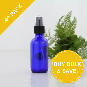 60ml Blue Glass Spray Bottles 40 Pack Bulk NZ