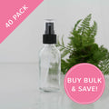 60ml Clear Glass Spray Bottles 40 Pack Bulk NZ
