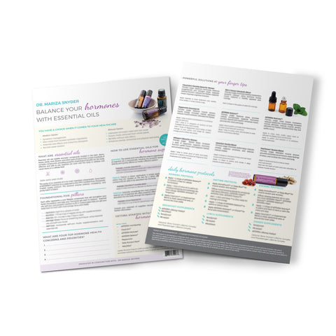 Dr Mariza Snyder – Balancing Your Hormones with Essential Oils Info Sheet