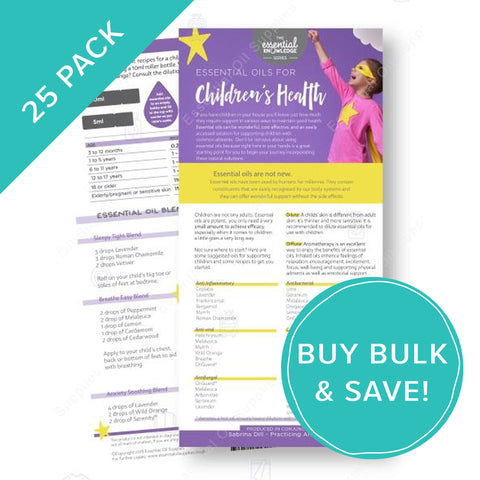 Children's Health Essential Oils Rack Card Bulk NZ