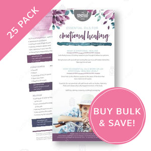 Essential Oils for Emotional Healing Rack Card Bulk NZ