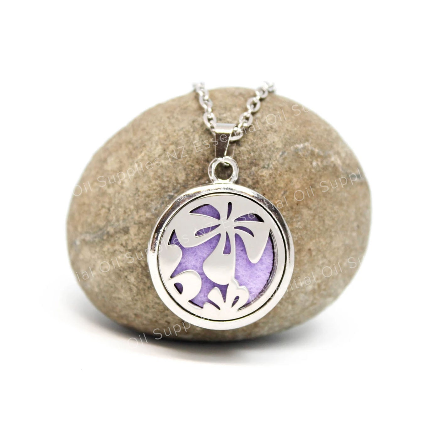 Hibiscus Flower Diffuser Necklace for Essential Oils NZ EOS NZ Aromatherapy Jewellery