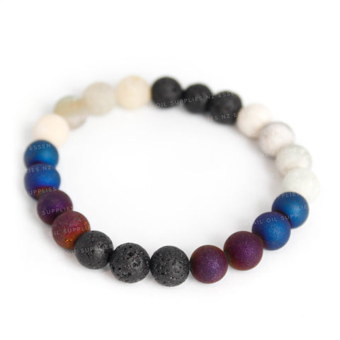 Midnight Stone Essential Oil Diffuser Bracelet NZ