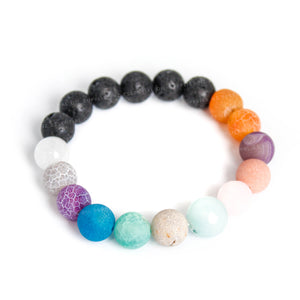 Rainbow Stone Essential Oil Diffuser Bracelet NZ