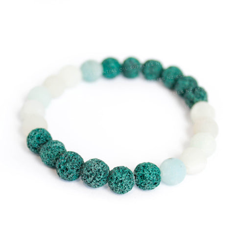 Teal Stone Essential Oil Diffuser Bracelet NZ