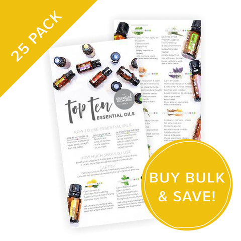 Top Ten Essential Oils Rack Card Bulk NZ