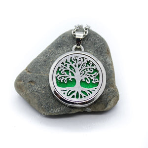 Tree Of Life Essential Oil Diffuser Necklace EOS NZ Aromatherapy Jewellery