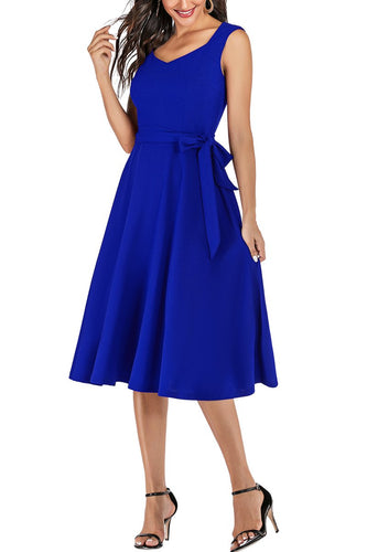 Royal Blue Bow Dress