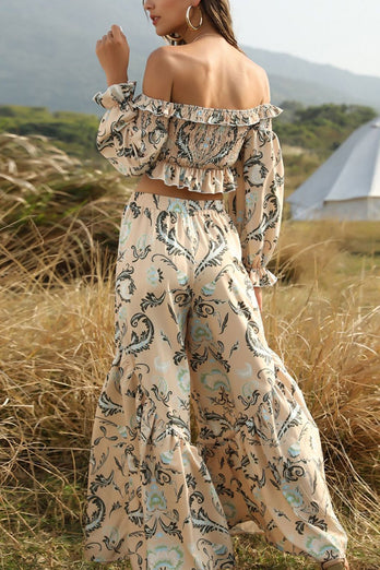 Boho Floral High Waist Summer Sets