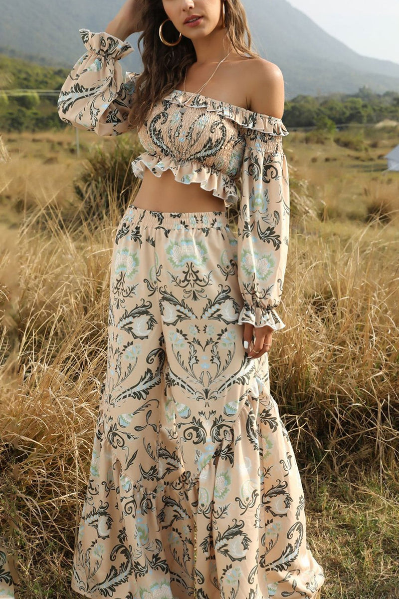 Load image into Gallery viewer, Boho Floral High Waist Summer Sets
