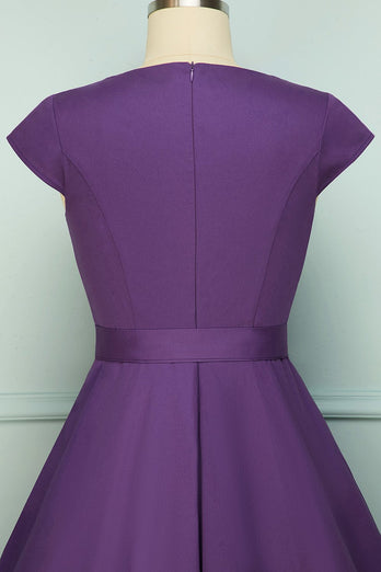Purple Swing 1950s Dress