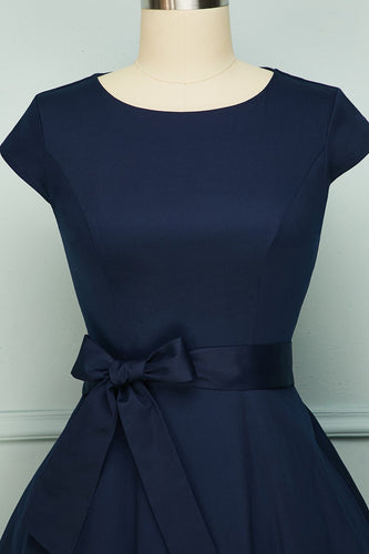 Vintage Navy Swing Dress