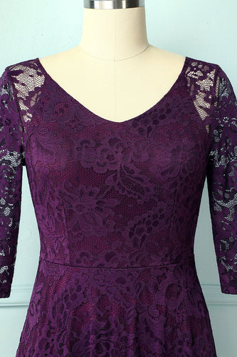 Grape Lace Midi