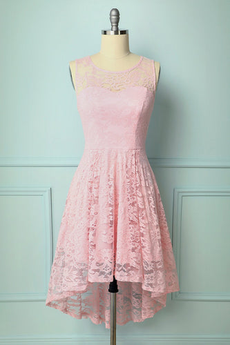 Asymmetrical Pink Lace