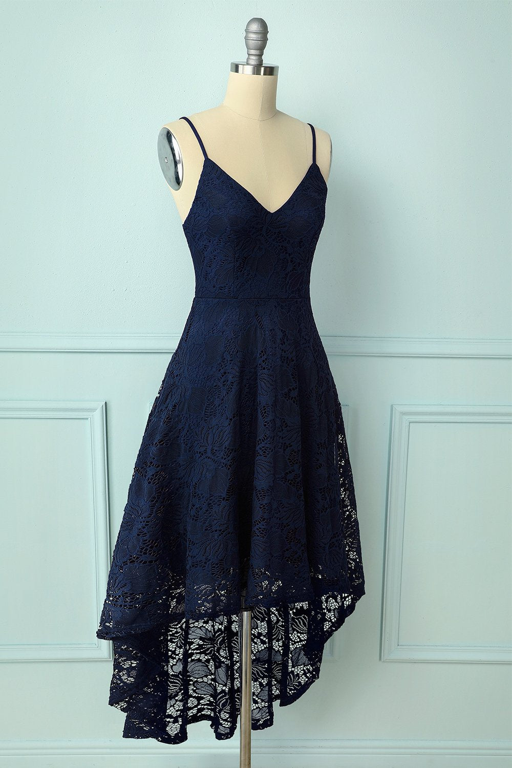 Straps Navy Lace