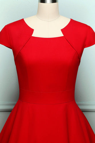 Retro Red Swing Dress