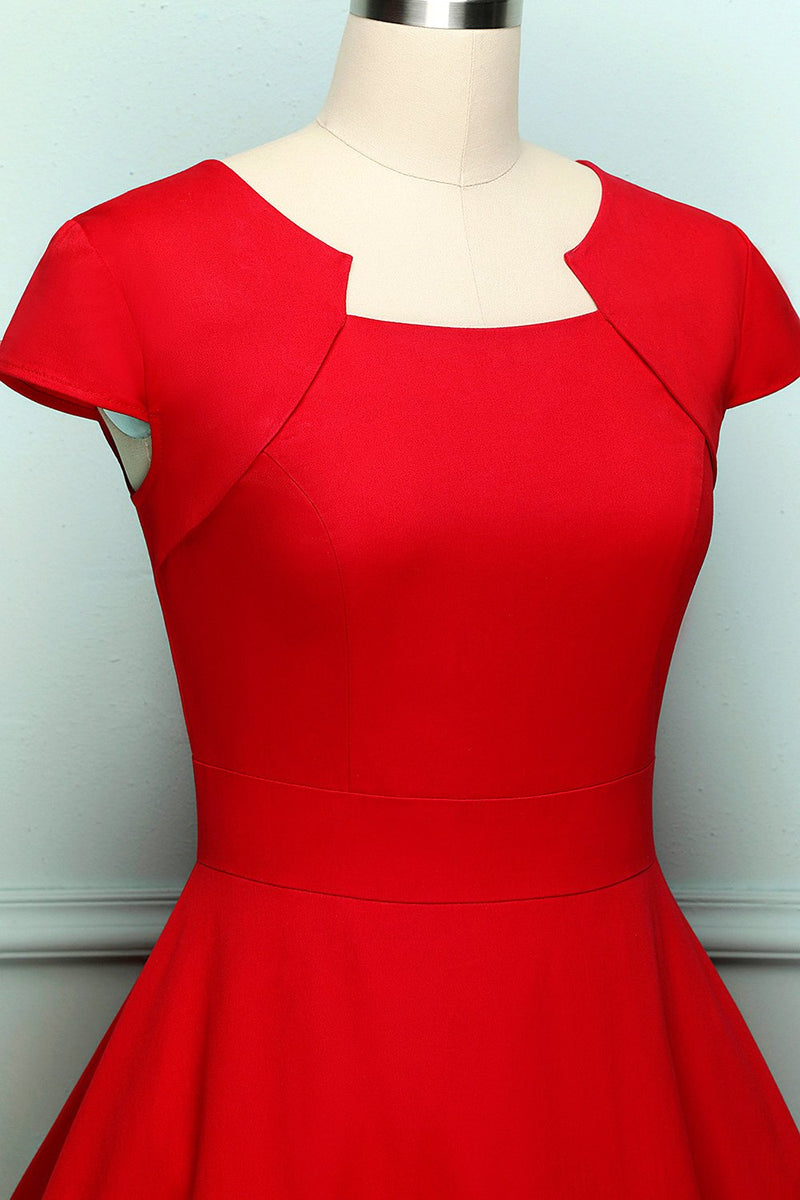 Load image into Gallery viewer, Retro Red Swing Dress