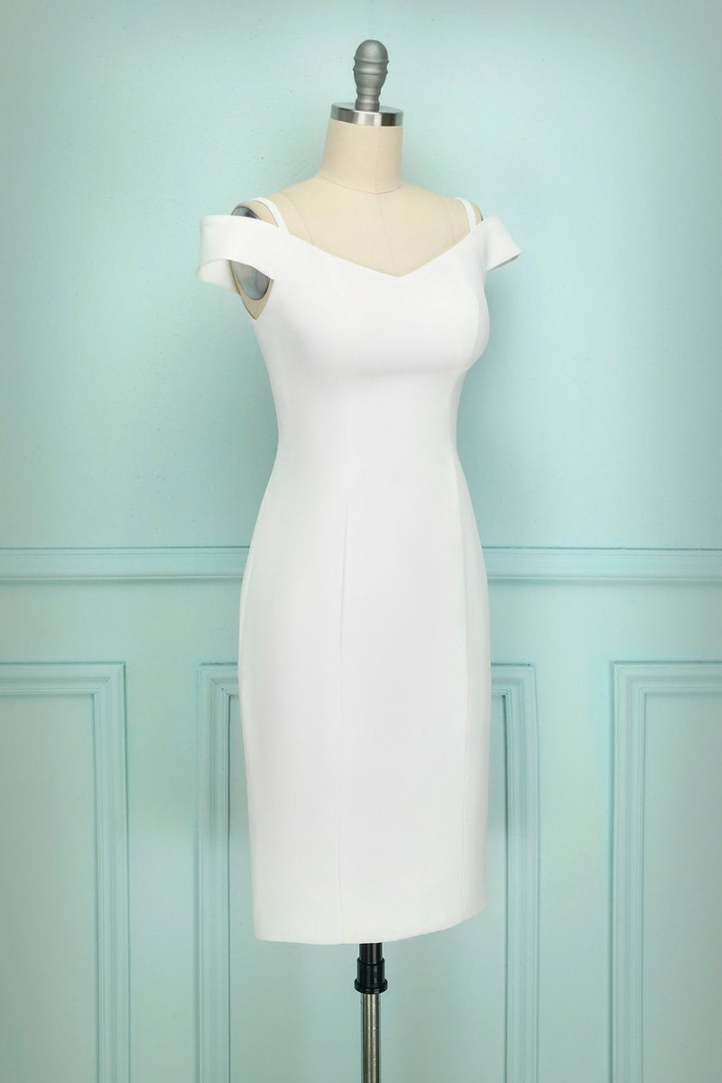 Load image into Gallery viewer, Off-shoulder White Dress