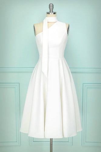 Simple White Party Dress