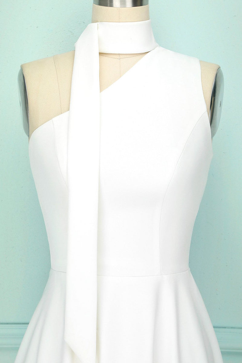 Load image into Gallery viewer, Simple White Party Dress