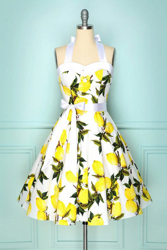 Halter Lemon Vintage Dress