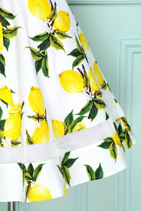V-neck Lemon Print