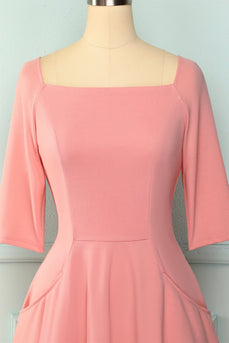 Blush Pockets Homecoming Dress