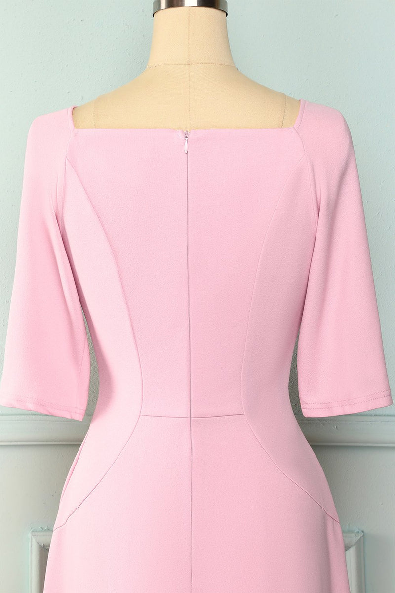 Load image into Gallery viewer, Pink Pockets Homecoming Dress