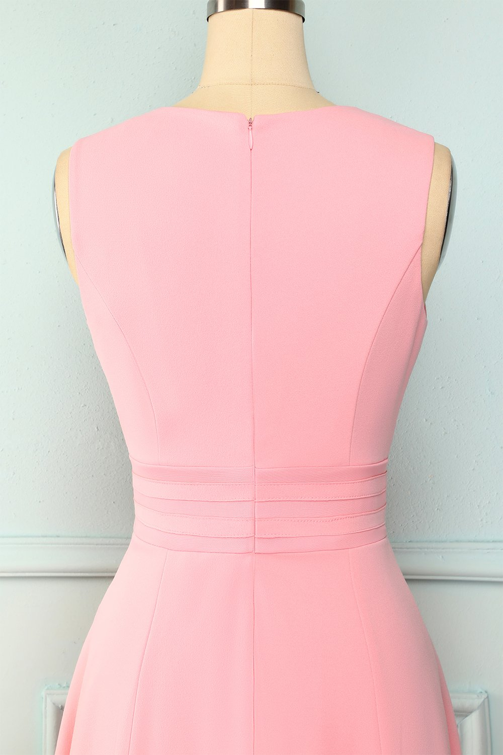 Solid Peach Dress