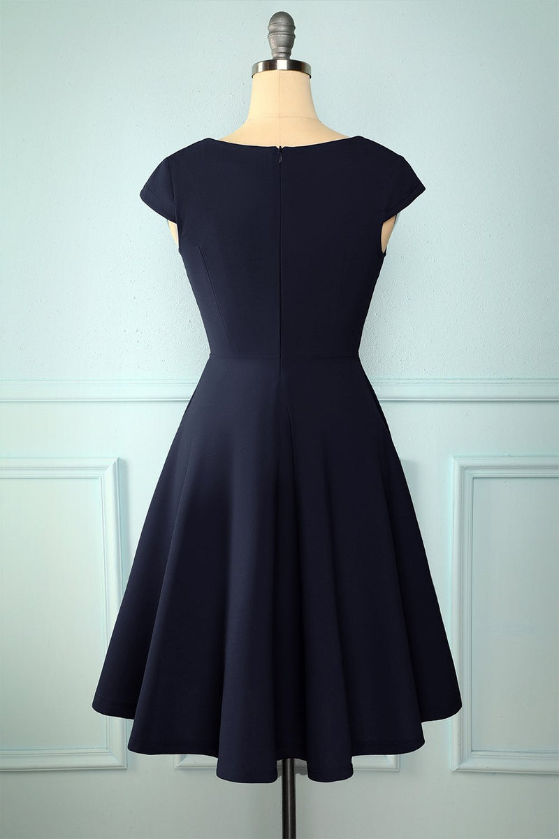 Load image into Gallery viewer, Navy Solid Dress