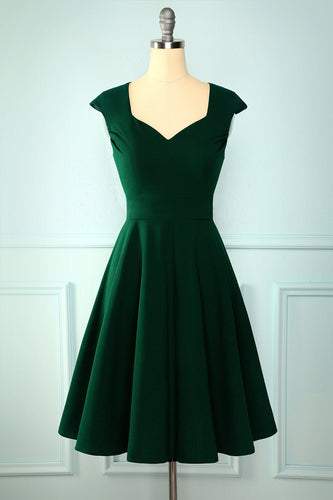 Dark Green Solid Dress