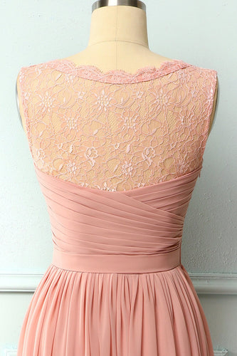 Ruffle Blush Lace Dress