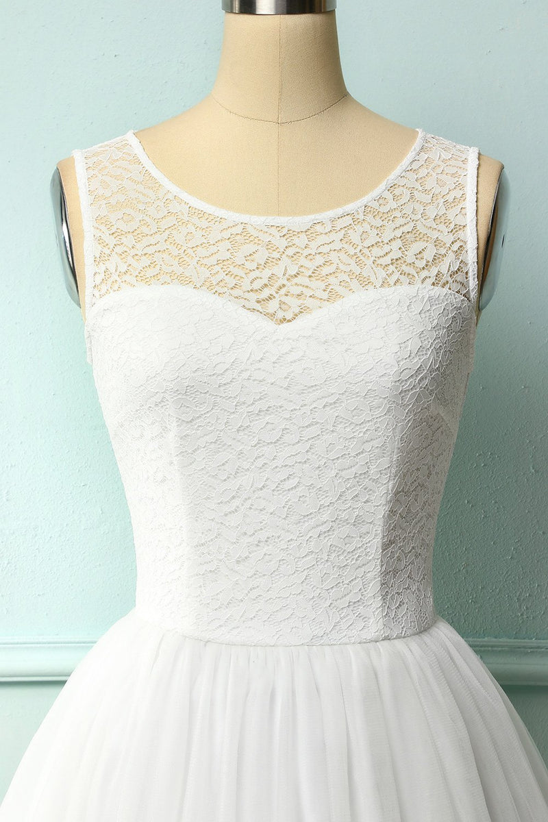 Load image into Gallery viewer, White Lace Graduation Dress