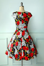 Load image into Gallery viewer, Skull & Rose Dress