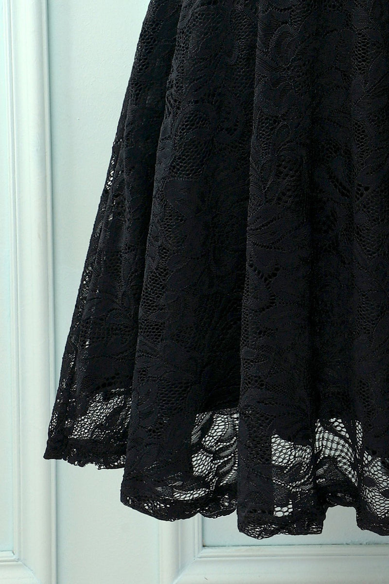 Load image into Gallery viewer, Vintage Black Lace Dress
