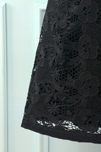Load image into Gallery viewer, Black Floral Lace Dress