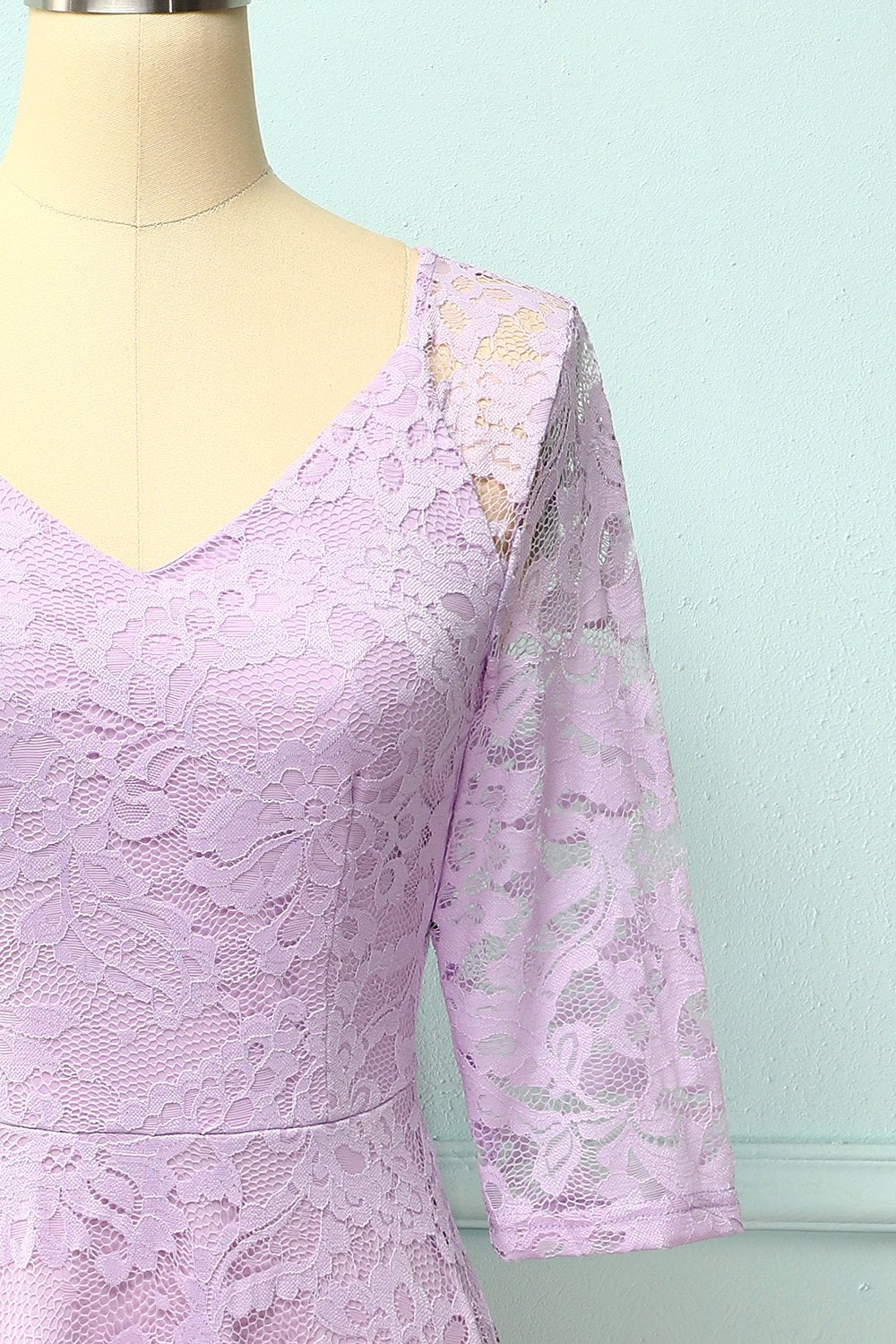 Lavender Midi Lace Dress