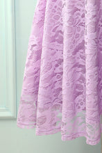 Load image into Gallery viewer, Lavender Midi Lace Dress