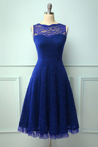Lace Royal Blue Formal Dress