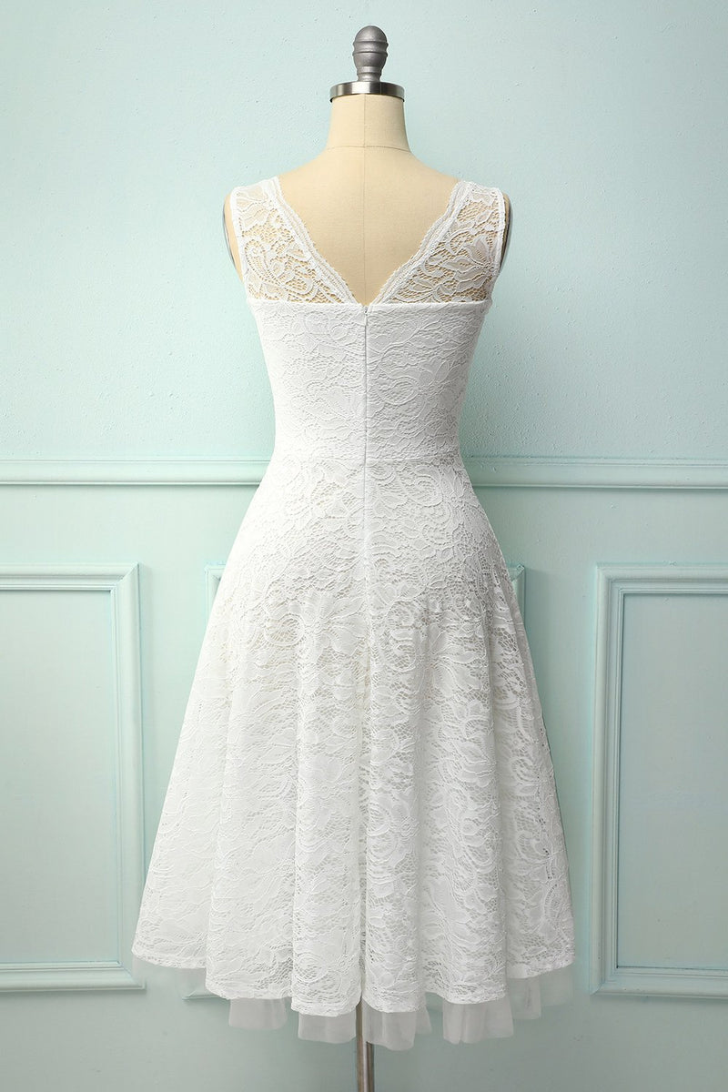 Load image into Gallery viewer, Lace White Formal Dress