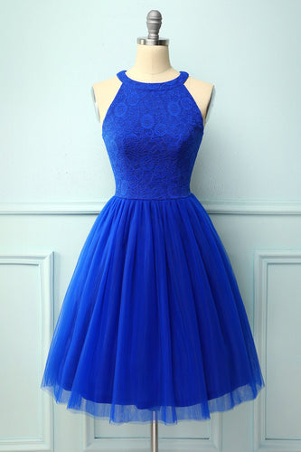 Royal Blue Halter Party Dress