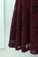 Load image into Gallery viewer, Burgundy V Neck Midi Lace