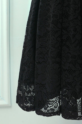 Black Halter Lace Midi