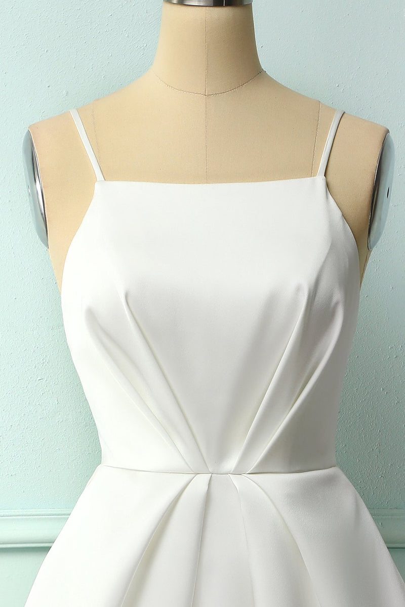 Load image into Gallery viewer, White Spaghetti Straps Midi Dress