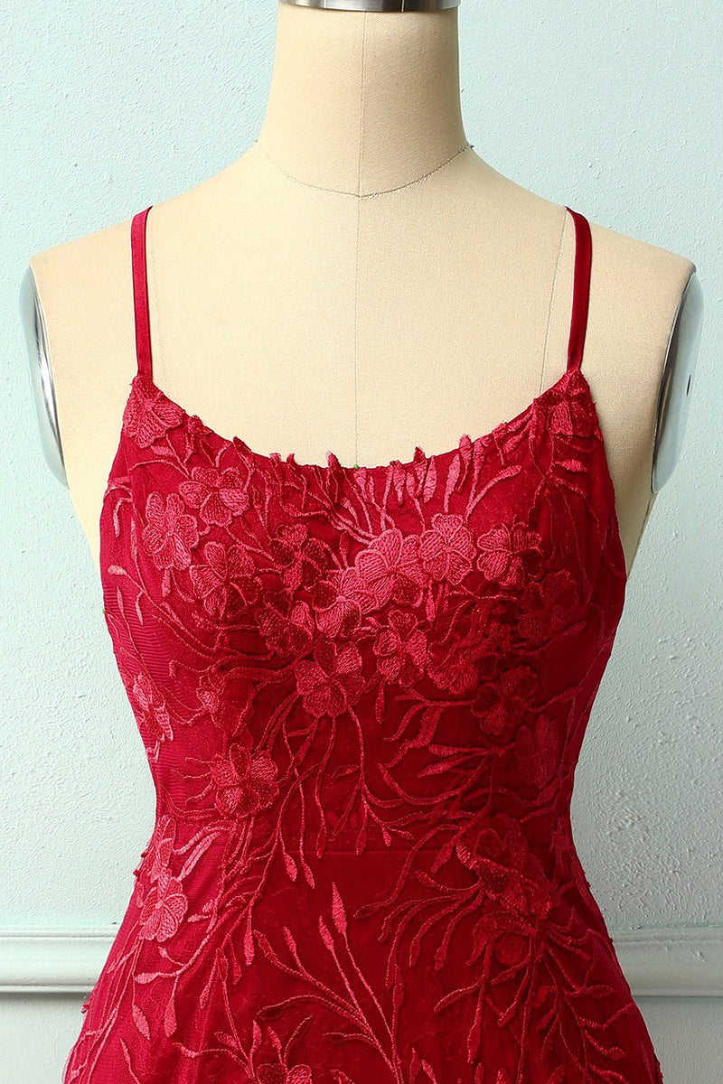 Load image into Gallery viewer, Spaghetti Straps Red Bodycon Dress