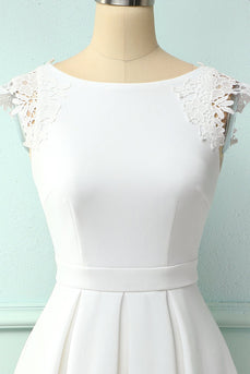 Simply White Lace Dress