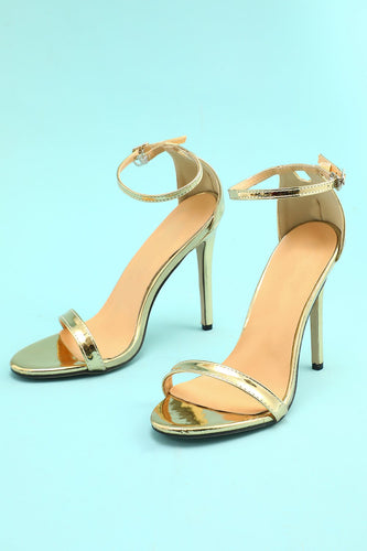Gold Stiletto Sandal  Prom Heel
