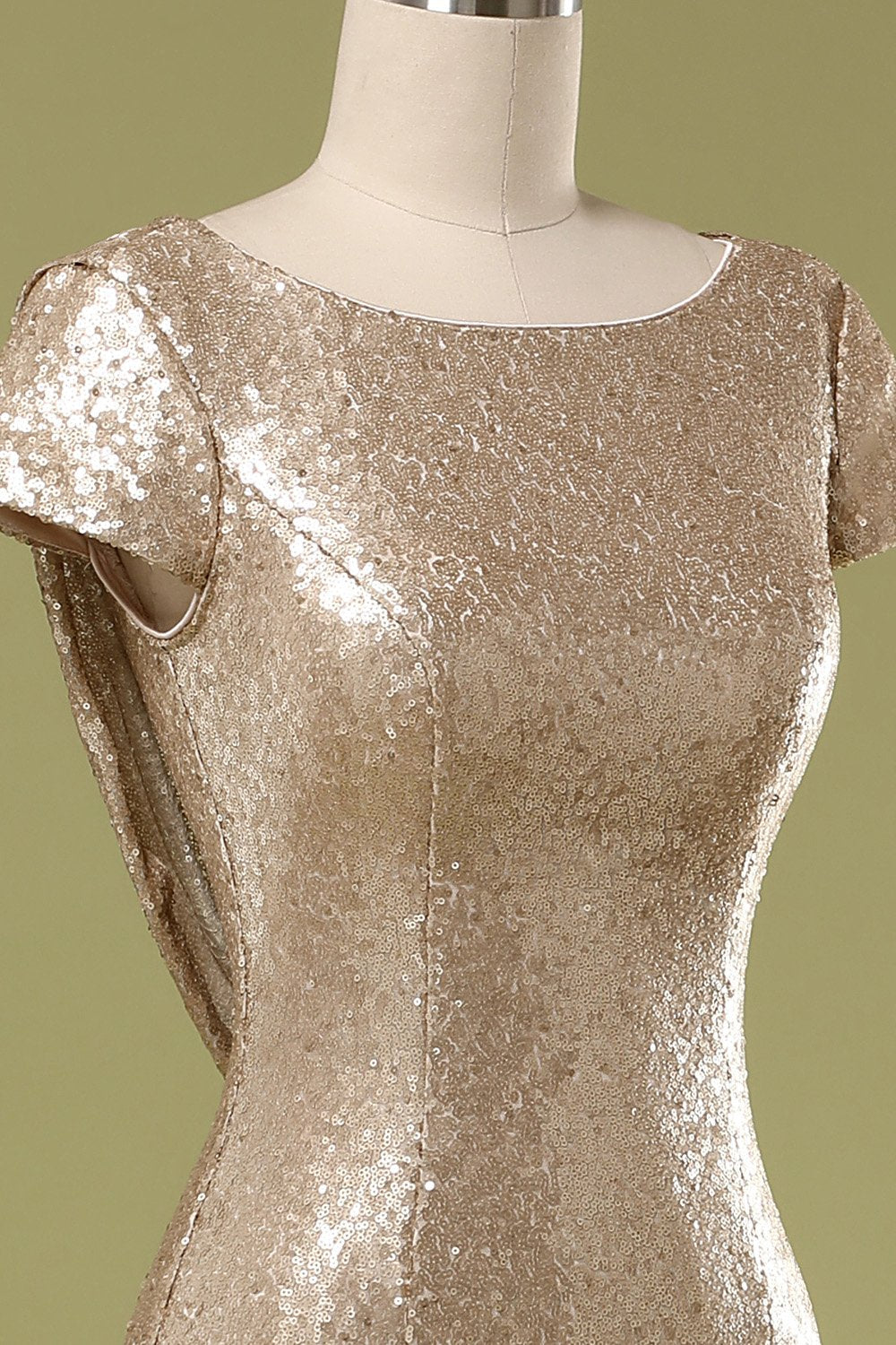 Sequins Gold Prom Dress