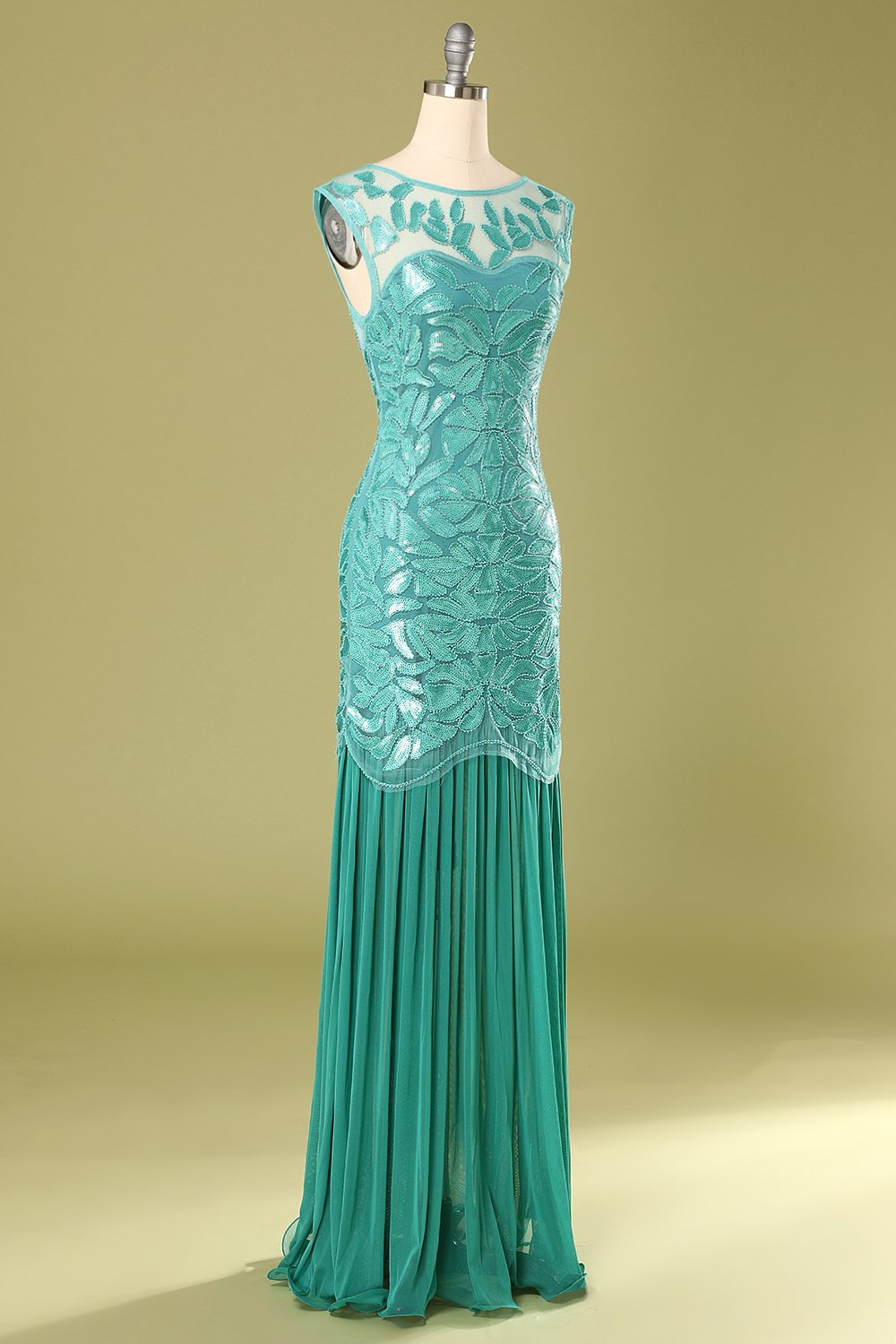 Blue Mermaid 1920s Flapper Dress