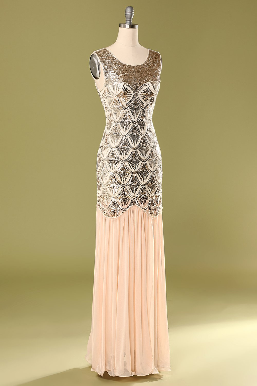 Pink Mermaid 1920s Flapper Dress